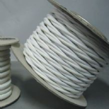 TWIST 2 Core Braided Fabric Cable Lighting Lamp Flex Vintage - BRIGHT WHITE